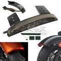 12 V Interruptor de La Motocicleta Guardabarros Trasero Borde Rojo 8 LEDs LED Tail luz de Freno Correr para Harley Davidson Sporster XL De Hierro 883 1200
