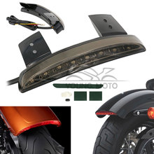 12V Chopper Motorcycle Rear Fender Edge Red 8 LEDs LED Tail Light Brake Running for Harley