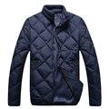 Angelo galasso wadded chaqueta de algodón acolchado chaqueta de hombre ropa de moda ocasional de moda cómoda ropa de abrigo envío gratis