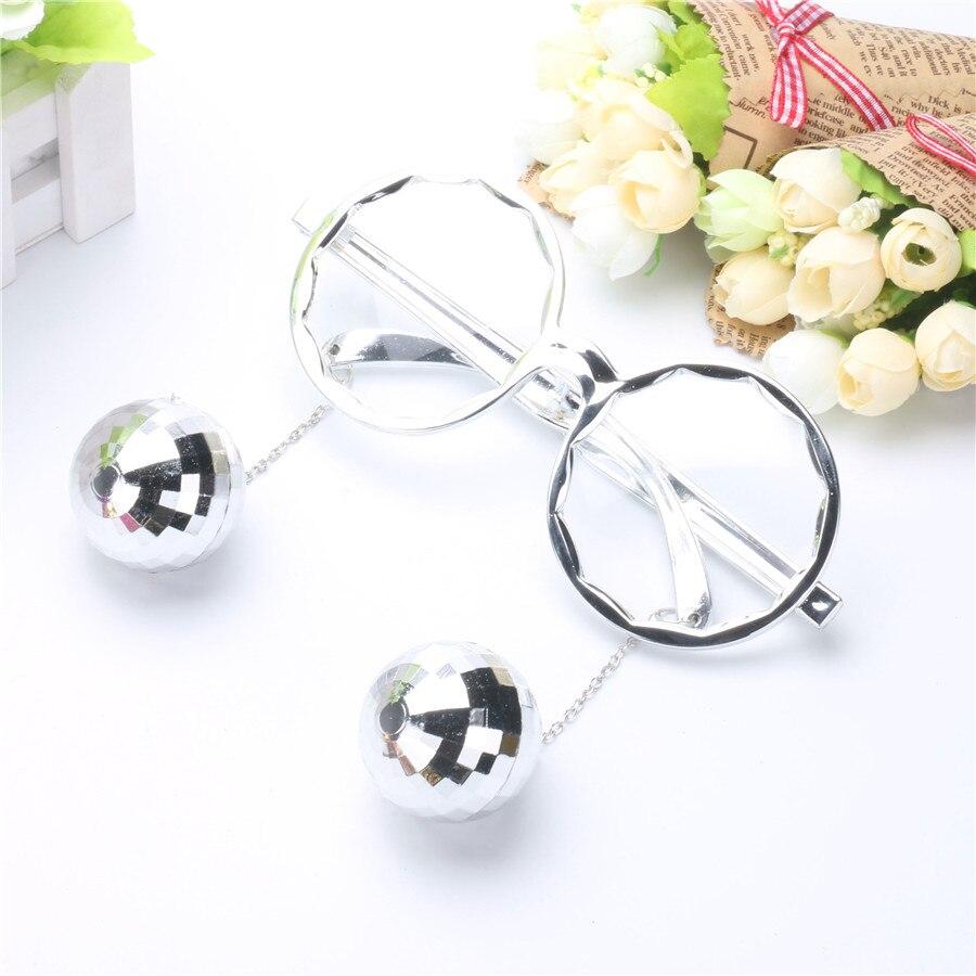 Shiny Hanging Disco Ball Glasses Creative Sunglasses Birthday Party Supplies