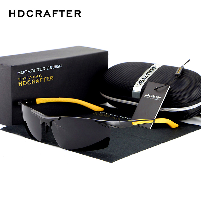 HDCRAFTER 2018 Fashion Sunglasses Aluminum Magnesium Frame mens Polarized Sunglasses Men Driving sun glasses