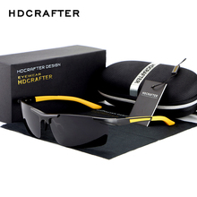 HDCRAFTER  2017 Fashion Sunglasses Aluminum Magnesium Frame mens Polarized Men Driving sun glasses