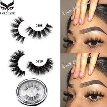 AMAOLASH 3D Mink Lashesความโหดร้ายฟรีMinkขนตาปลอมขนตาปลอมธรรมชาติทำด้วยมือEyelash Extensionแต่งหน้าFake Eye Lashes