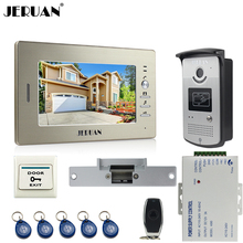 "JERUAN 7"" LCD Screen Video Intercom Video Door Phone Handsfree System access control system+700TVL Camera+Electric Strike lock"