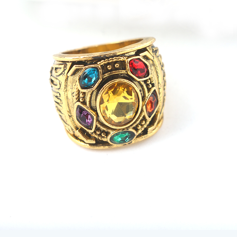Marvel Universe Infinity Gauntlet Thanos Avengers Stones War GOTG Ring Size 12