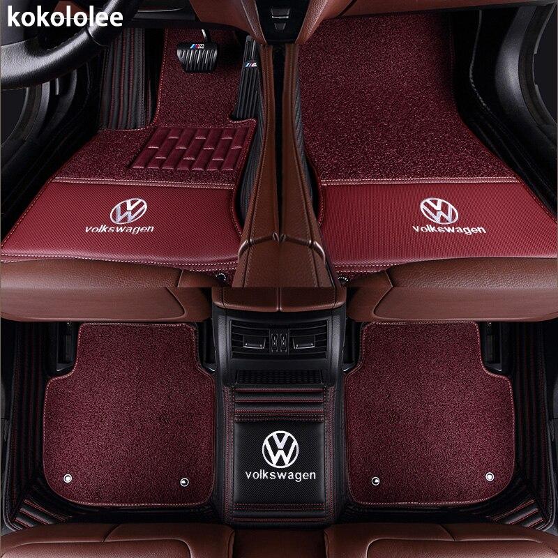 Kokololee Personnalisé de voiture tapis de sol pour Volkswagen Tous Les Modèles vw passat b5 6 polo de golf tiguan jetta touran touareg voiture styling auto - 6