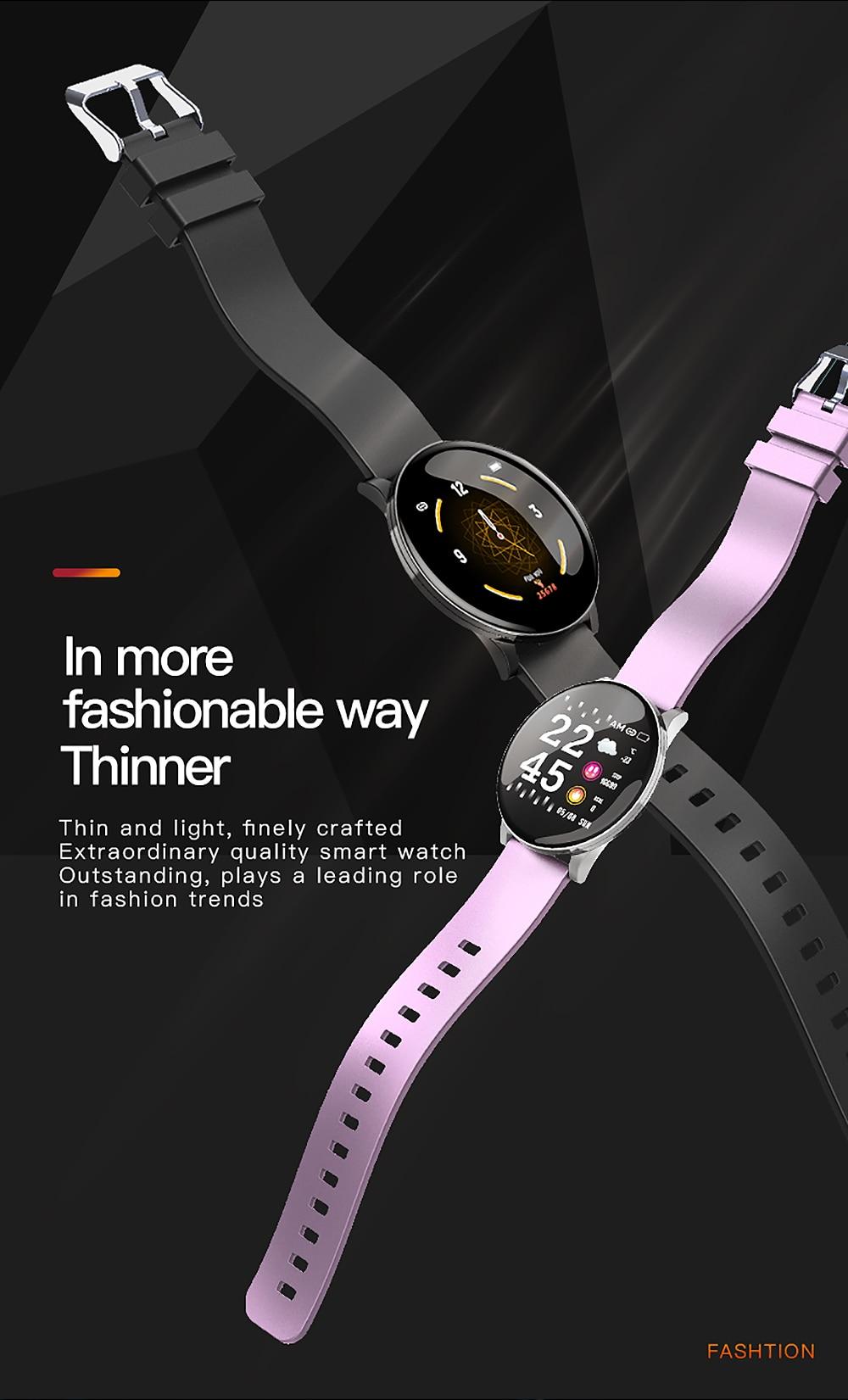 Cobrafly W8 Smart Band Steel Strip IP67 Waterproof Fitness Tracker Watch Men Women Smart Sports Clock Heart Rate Monitor Watches