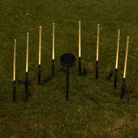 LAIDEYI Solar Power Tube Lights Lamps Acrylic Bubble Pathway Lawn Landscape Decoration Garden Stick Stake Light