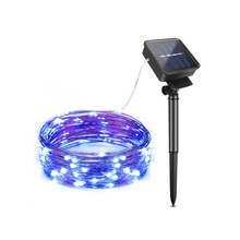 Colorful Solar Light LED Fairy String lamp 100/200leds 10m 20m Waterproof Copper Wire Outdoor Garlands Garden Christmas Decor