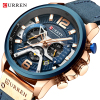 CURREN Casual Sport Top Brand Luxury Military Leather Wrist Watches