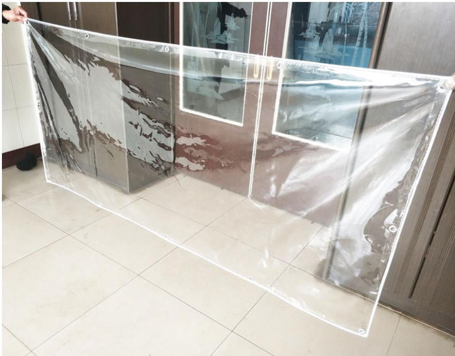Customize Thick 8mX3m Transparent Trapaulins Outdoor Cover, 0.5mm 550g Waterproof Pvc Cloth, 100% Transparent Rain Tarp.