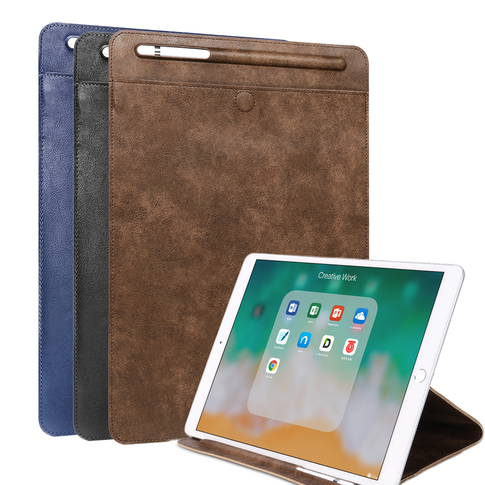 PU Sleeve Case For IPad Pro 10.5 Pouch Bag Cover With Pencil Holder Case For IPad 9.7 2018 2017 Universal Stand For Ipad Air 2 1
