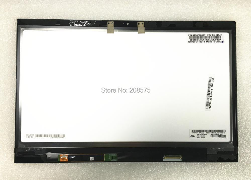 Free shipping! LP140QH1-SPA2 LCD Display Touch Screen Assembly with Touch For Lenovo Thinkpad X1 Carbon 00HN827 2560*1440 for lenovo thinkpad t460s t460p computer lcd led screen upgrade 3k lcd monitor vvx14t058j00 2560 1440 upgradable 3k screen