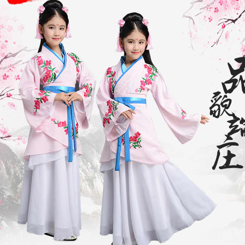 f3a208fbc Fairy girls ancient chinese opera tang han ming dynasty costume chinese  traditional hanfu dress child clothing