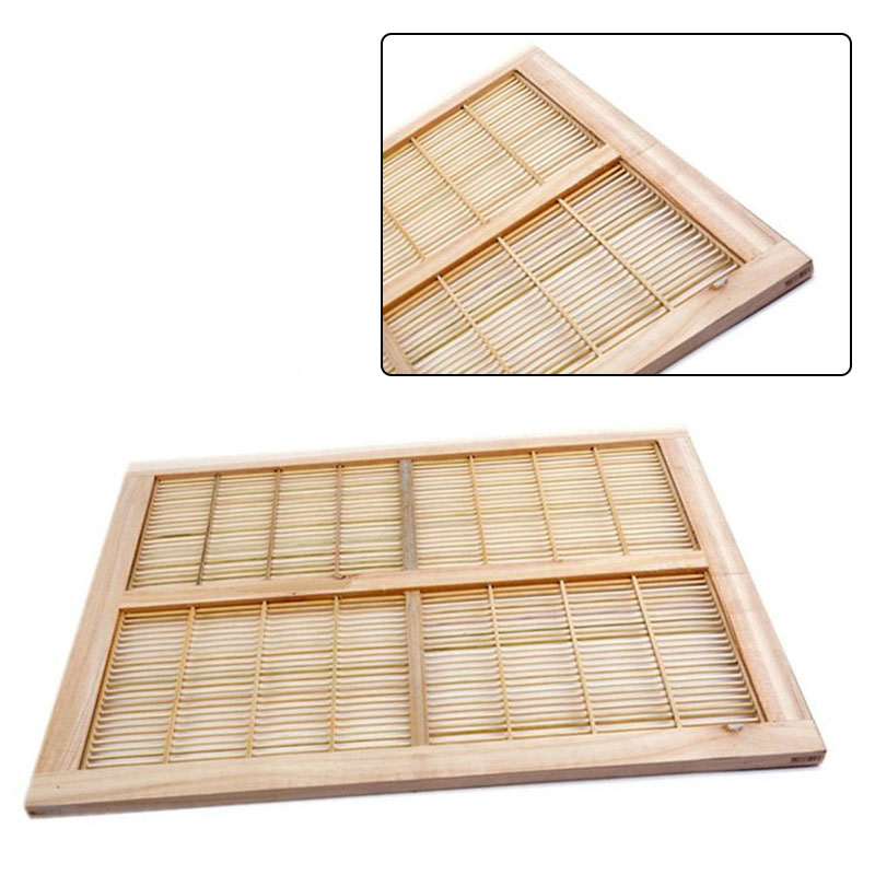 Apiculture Bee Queen Excluder Beekeeper 1pc Wood Bamboo Beekeeping Trapping Equipment Beehive 51x41cm Practical|Beekeeping Tools| |  - title=