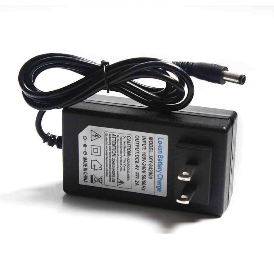 8,4 в 2A зарядное устройство 18650 литиевая батарея зарядное устройство DC 5,5*2,5 мм 2 струны 7,4 В литиевая батарея зарядное устройство 100-220 В