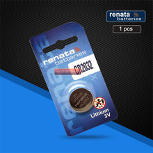 2pc Swiss CR2032 Renata Button Battery 3V Li-ion Batteries For watches Remote Control Toy(China)