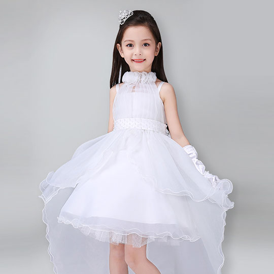 Black Gold Halterneck Kids Girl Ruffle Latin Dance Party One Piece Dress 2-7Year