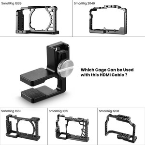 Image 5 - SmallRig HDMI Cable Clamp for Sony A6500/A6300/A6000/A7/A7R/A7S DSLR Camera Cage (1661/1889/1620/1633)   1822