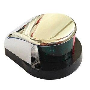 Image 1 - 바이 컬러 레드 그린 led 네비게이션 라이트 12 v 해양 보트 요트 스테인레스 스틸 보우 세일링 신호 램프