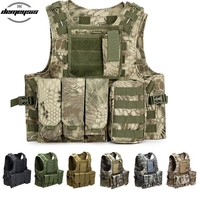 Tactical Vest Hunting Military Equipment Molle Vest Combat Armor Camouflage Vest for Airsoft Militar Vest