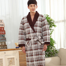 98925f98f9 Men s robe three layer of thick cotton winter bathrobes casual tracksuit  thickening pijamas plus size quilted pajamas L XXXXL on Aliexpress.com