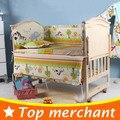5 pçs/set fundamento do bebê recém-nascido conjunto miúdos cama definir 100x58 cm dos desenhos animados bebê conjunto berço cama infantil do bebê do bebê crib bumper bumper CP01