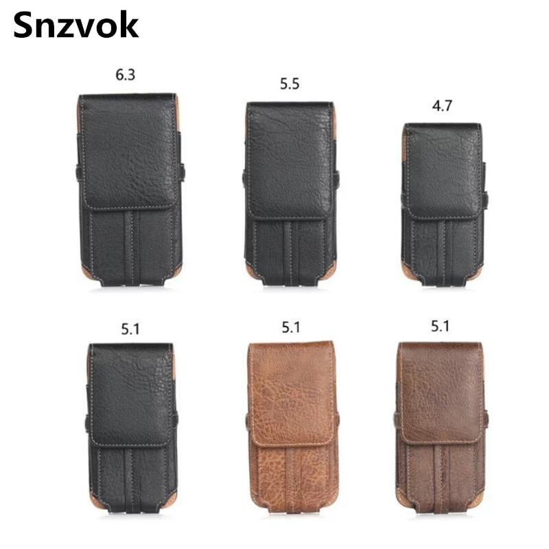 Snzvok 4 7 6 3 inch Universal Outdoor men Waist Belt flip Phone Bag For iPhone