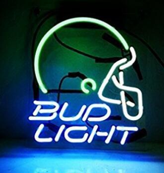 Custom Made Bud Helmet Light Neon Light Sign Beer Bar