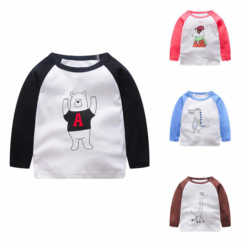 6daa720688 Detail Feedback Questions about Winter Baby Clothes Baby Boys Tops And Tees  Kids Baby Boys Girls Long Sleeve Cartoon Animal Printed T shirt Top Clothes  ...