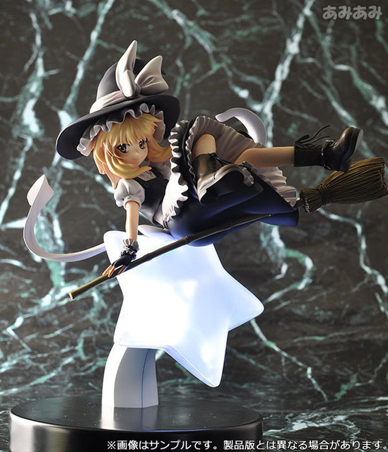 22cm Touhou Project Marisa Kirisame 1/8 scale Anime Action Figure PVC Collection Model toys brinquedos for christmas gift
