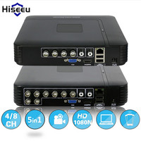 Hiseeu 1080N Mini DVR 5IN1 For 1080P IP Camera VGA HDMI Security System Mini NVR For
