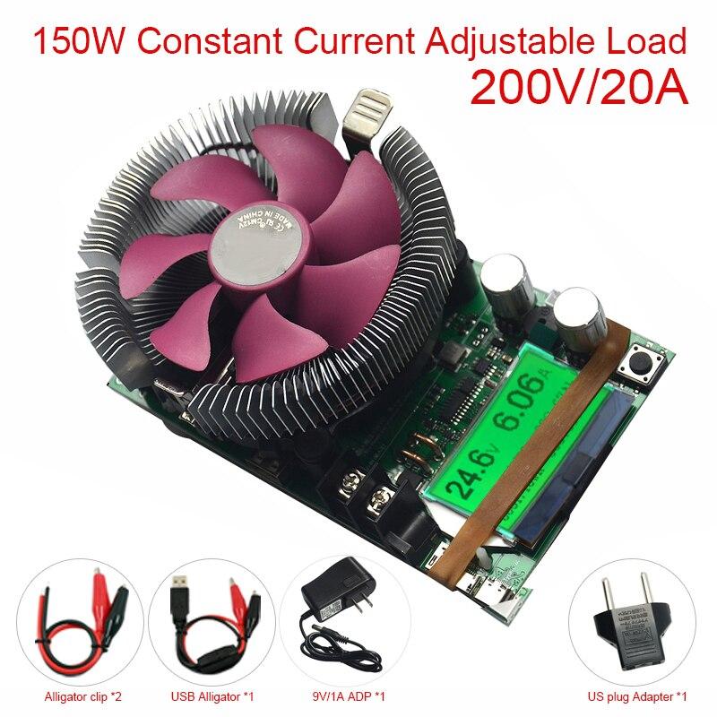 Testeur de batterie de charge électronique à courant Constant réglable V 150 W 12v24v48v compteur de capacité de décharge au plomb au Lithium
