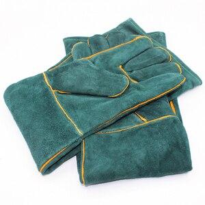 Image 4 - Anti bite veiligheid bite handschoenen voor Catch hond, kat, reptiel, dier Ultra lange lederen groene Huisdieren grijpen bijten beschermende handschoenen