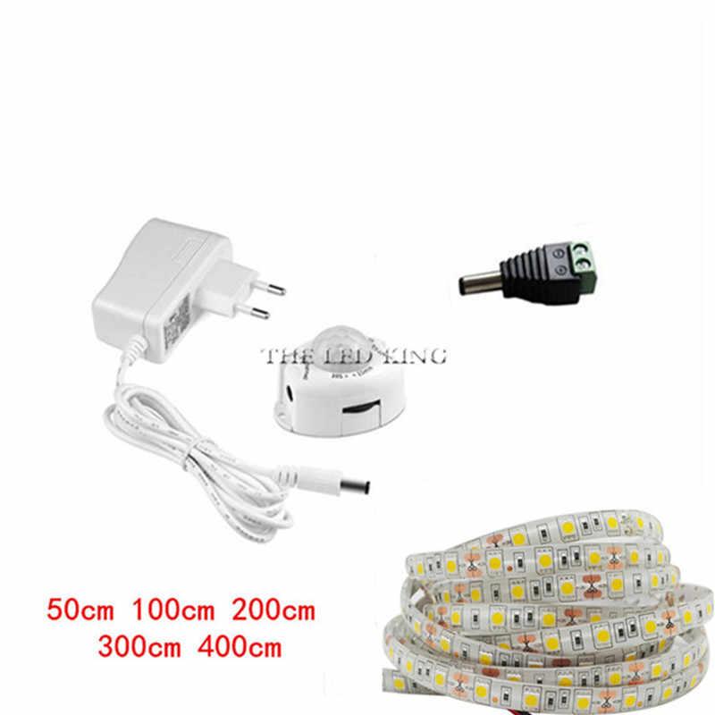 Kami Uni Eropa PIR Sensor Gerak Dapur Cahaya Pita 5V 12V LED Malam Lampu IR Tubuh Memindahkan Deteksi Pita lampu Strip Koridor Tempat Tidur Lemari Pakaian