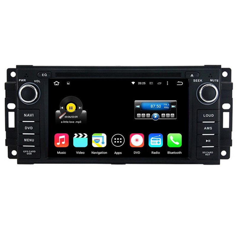 "6.2"" 2016 Newest Android 5.1.1 Car Radio Player For Chrysler/Sebring/Aspen/300C Cirrus 2007-2010 for Jeep Commander 2008-2010"