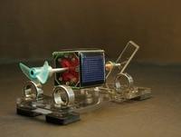 tiny Mendocino Motor Propeller type magnetic suspension solar toy Scientific physics Solar rotation Pressure reducing EDC toy