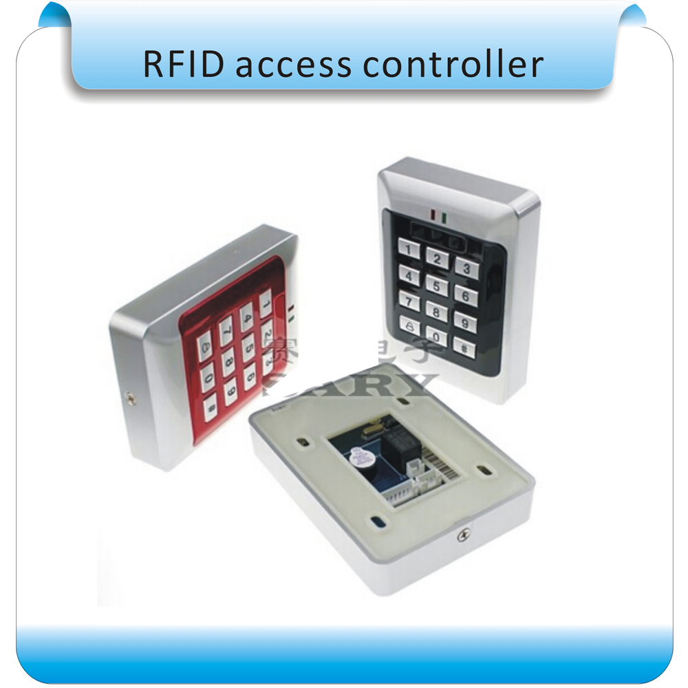 EM 125KHZ Door Mirror RFID Reader & Keypad Door Access Control /ABS Metal Keypad Case+10 pcs crystal keyfobEM 125KHZ Door Mirror RFID Reader & Keypad Door Access Control /ABS Metal Keypad Case+10 pcs crystal keyfob