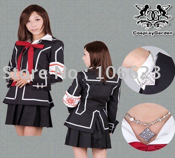 594fcf6292c Wholesale Freeshipping Hot Selling low price Cheap Cosplay Costume C1203  Vampire Knight Yuki Uniform