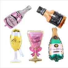 Large champagne glass bottle aluminium foil balloon decoration film for wedding birthday graduation party