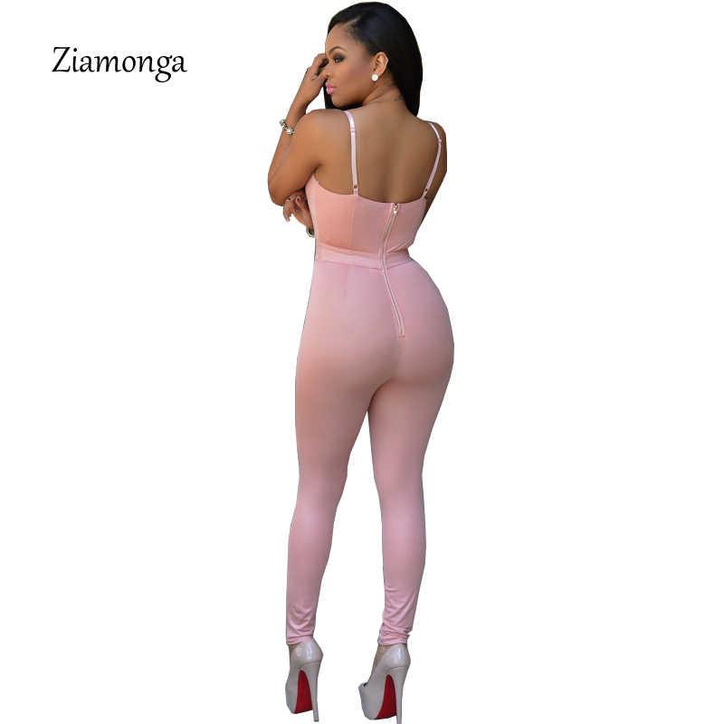 Новинка 2017, элегантный женский комбинезон, модный боди, без рукавов, на молнии, Облегающий комбинезон, комбинезоны, длинные штаны, большие размеры, C2408