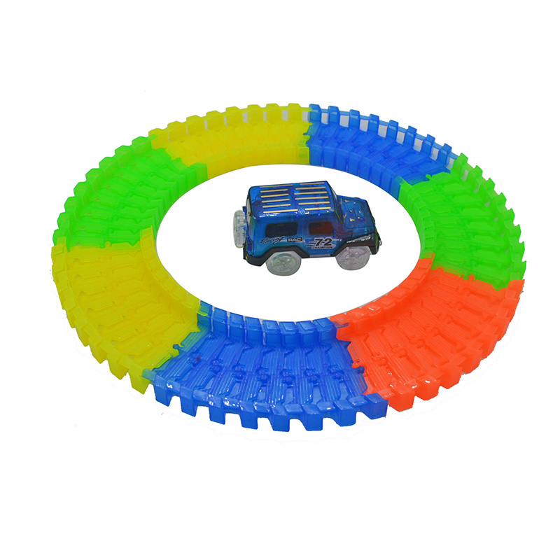 Miracle-Glow-Racing-Track-Set-Flexible-Track-Led-Car-Toy-162165220240pcs-Race-Track-1pc-LED-Car-2