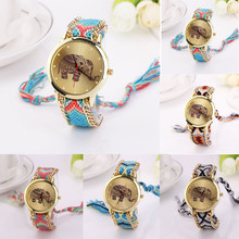 New Brand Handmade Braided Dream catcher Friendship Bracelet Watch Rope FHD Watch Ladies Quarzt Watches  Free shipping