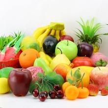 Искусственные фрукты, пластиковые искусственные яблоки, апельсин, банан и лимон, кухонные принадлежности для фруктов для свадебной вечеринки, домашний декор