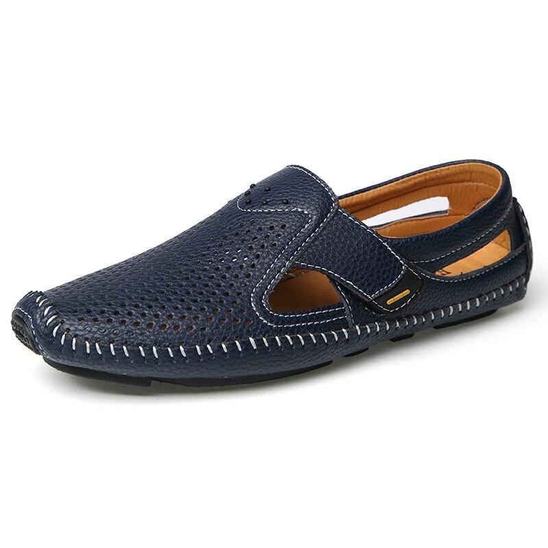 black respirant haute qualit main brown blue d 39 t chaussures hommes mocassins 76yfyibgv. Black Bedroom Furniture Sets. Home Design Ideas