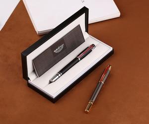 Image 5 - Hero 200E 14K Gold Collection Fountain Pen Matte Black / Gray Golden / Silver Clip Fine Nib Gift Pen and Box for Business Office