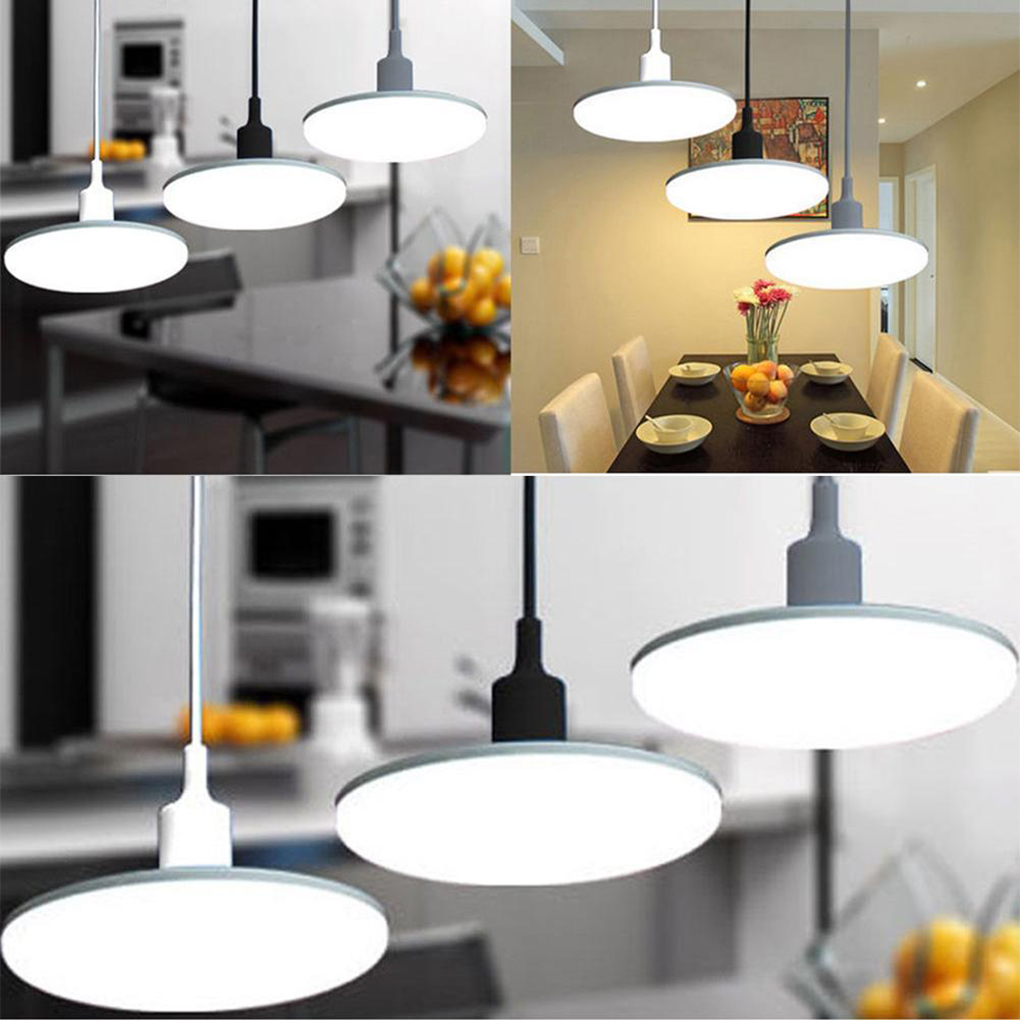 LED Fixture White Pendant Light Bulbs In Line Pendant 12W Power with ...