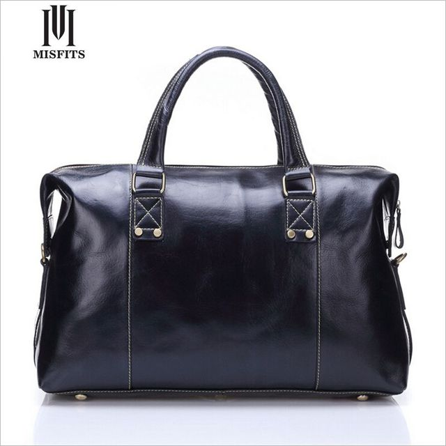 MISFITS marca designer bagagem viaja sacos para homem homem duffle bolsa de viagem saco de homem de couro genuíno de alta qualidade bolsas WHB186