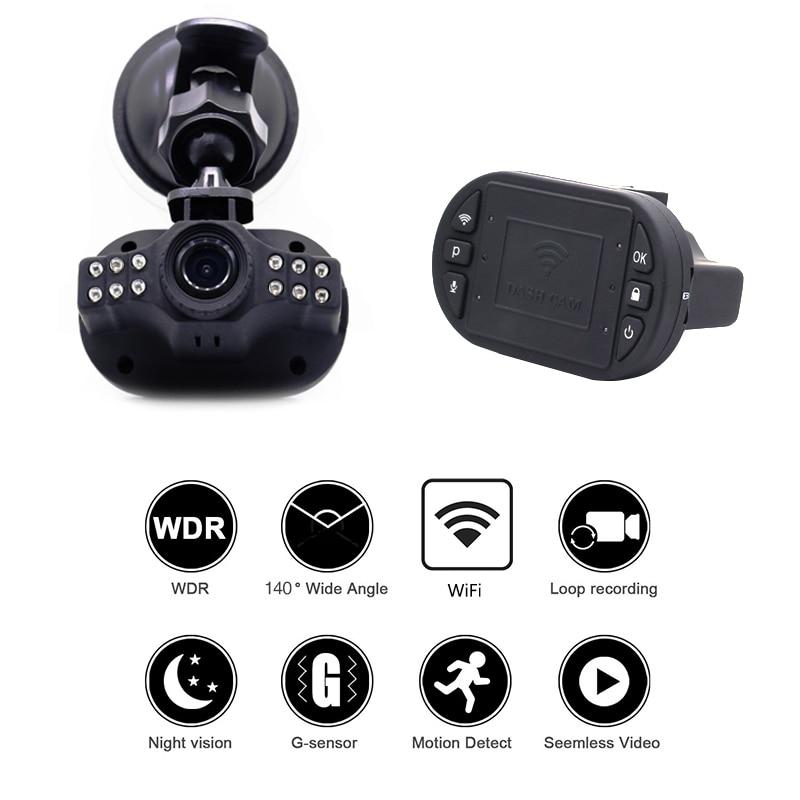Ainina Car dvrs Camera recorder with WiFi Mini Hidden Car Dashcam Night Vision 1080p Car Video Recorder