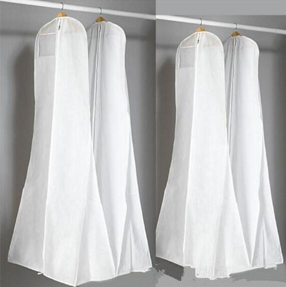 Length Cheap Wedding Dress Bags Clothes Cover Dust Cover Garment Bags Bridal Gown Bag For Mermaid Wedding Dress Cover new